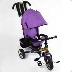 Детский трехколесный велосипед Combi Trike BT-CT-0003 PURPLE с усиленной родительской ручкой.