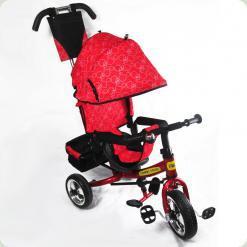 Детский трехколесный велосипед Combi Trike BT-CT-0003 RED с усиленной родительской ручкой.