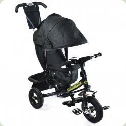 Детский трехколесный велосипед Combi Trike BT-CT-0004 DARK GREY. Надувные колеса