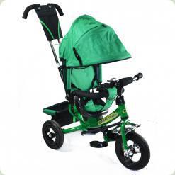 Детский трехколесный велосипед Combi Trike BT-CT-0004 GREEN. Надувные колеса