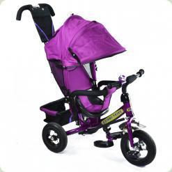 Детский трехколесный велосипед Combi Trike BT-CT-0004 PURPLE. Надувные колеса