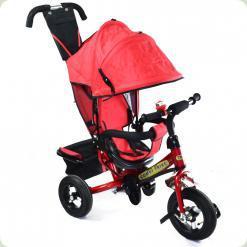 Детский трехколесный велосипед Combi Trike BT-CT-0004 RED. Надувные колеса