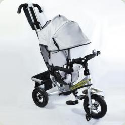 Детский трехколесный велосипед Combi Trike BT-CT-0004 SILVER. Надувные колеса