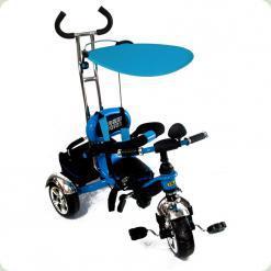 Детский трехколесный велосипед с ручкой Combi Trike BT-CT-0012 BLUE