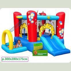 Детский надувной батут Happy Hop КАПИТОШКА с горкой и мини-бассейном