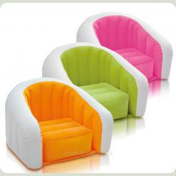 Детское велюровое кресло Intex 68597 Лайм