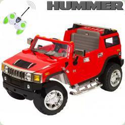 Двухместный детский электромобиль Джип Hummer 1206, красный