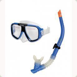 Дыхательная трубка Intex Free Flo и маска Intex Reef Rider (55948)