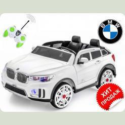 """Электромобиль BMW """"x 7 двухместный """"Мягкие колеса"""", белый"""
