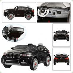 """Электромобиль BMW """"x 7 двухместный """"Мягкие колеса"""", черный"""