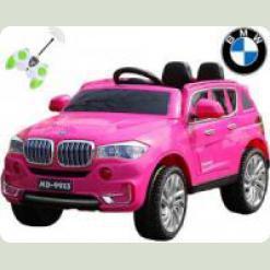 """Электромобиль BMW """"x 7 двухместный """"Мягкие колеса"""", розовый"""