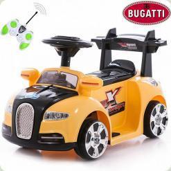 Электромобиль Bugatti MINI, желтый