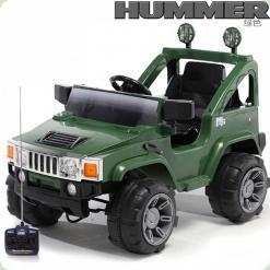 Электромобиль Hummer A-30 H2 - 2 мотора + Д/У - Зеленый