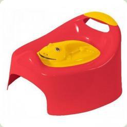 Горшок музыкальный с крышкой Tega Frog PO-012 red