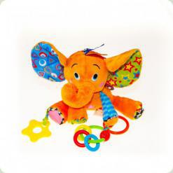 Игрушка-подвеска Biba Toys Веселый слоник (992DS)