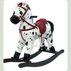 Качалка-лошадка Bambi MP 0668 Бело-черный