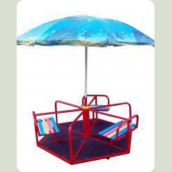 Карусель шестиместная с зонтиком.