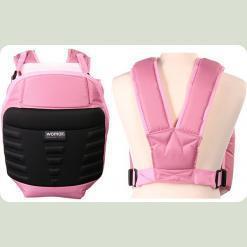 Кенгурушка Womar №10 Exclusive (розовый с черным)
