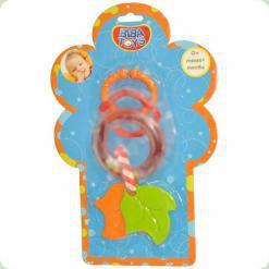 Кольцевая погремушка-подвеска с прорезывателем Biba Toys Листочки (095PP)