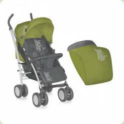 Коляска Bertoni S-100 ЧЕХОЛ (green&grey belowed baby)