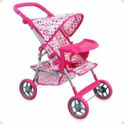Коляска для кукол Alexis-Babymix ME-9366T pink