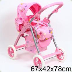 Коляска для кукол Melogo (Metr+) 9388 Розовый