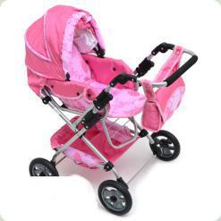 Коляска для кукол Tako 2 в 1 Розовый с рисунком