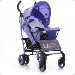 Коляска-трость Bambini Shuttle с чехлом Violet Butterfly