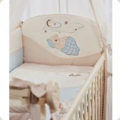 Комплект постельного белья Putti Starry Night Голубой 7 элементов