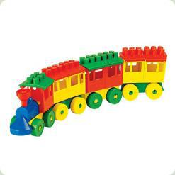 Конструктор  паровоз с тремя вагонами
