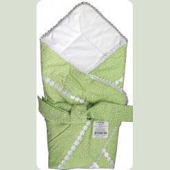 Конверт-одеяло для младенца, шерсть, сатин, бязь набивная