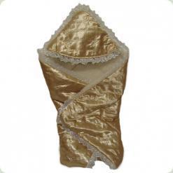 Конверт-одеяло для роддома Ассоль Золотой