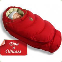 Конверт-пуховик 2в1 Ontario Baby Alaska (0-4 мес) красный
