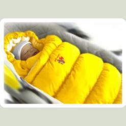 Конверт-пуховик Inflated (дутик 50х90) желтый
