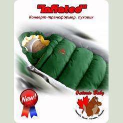 Конверт-пуховик Inflated-A фланель (дутик 50х90) зеленый