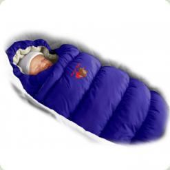 Конверт-пуховик Ontario Baby Inflated Lux (дутик 50х90) синий с фиол.