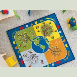Ковер в детскую комнату Confetti - Four Seasons голубой 133*133