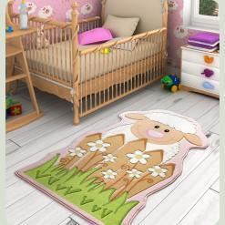 Ковер в детскую комнату Confetti - Little Sheep розовый 80*150