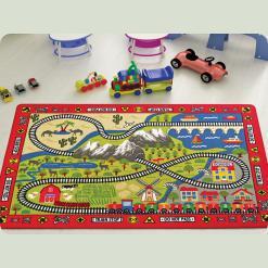 Ковер в детскую комнату Confetti - Railway красный 133*190