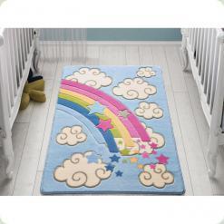 Ковер в детскую комнату Confetti - Rainbow голубой 100*150