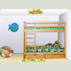"""Двухъярусная кровать из ольхи """"Ирель"""""""