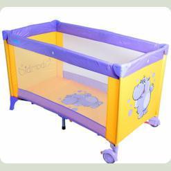 Кровать-манеж Bambi M 1546 Фиолетово-желтый