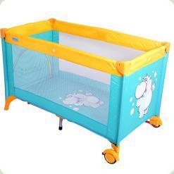 Кровать-манеж Bambi M 1550 Бирюзовый