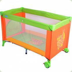 Кровать-манеж Bambi M 1600 Зелено-оранжевый