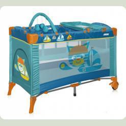 Кровать-манеж Bertoni Arena 2 Layers Plus Cat Aquamarine