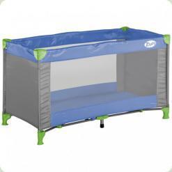 Кровать-манеж Bertoni Zippy 1 Layer Gray&Blue