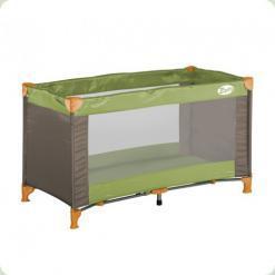 Кровать-манеж Bertoni Zippy 1 Layer Green&Beige