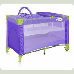 Кровать-манеж Bertoni Zippy 2 Layer Plus Rocker Violet