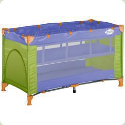 Кровать-манеж Bertoni Zippy 2 Layer Violet&Green