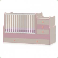Кровать-трансформер Bertoni Maxi Plus Oak/Pink